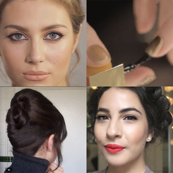 Christmas party hair and makeup video tutorials   Mollie Makes