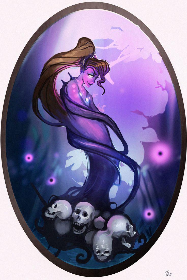 Fairy Tale Scrapbook, Megara (Darkness): Disney Elementals series by CeruleanRaven