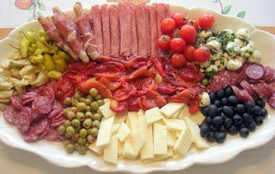 Antipasto Tray. Perfect for summertime when you don't want to cook.