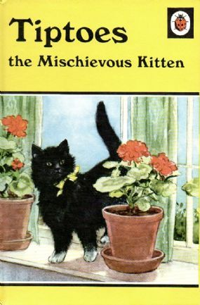 TIPTOES THE MISCHIEVOUS KITTEN Vintage Ladybird Book Animal Rhymes Series 497 Matt