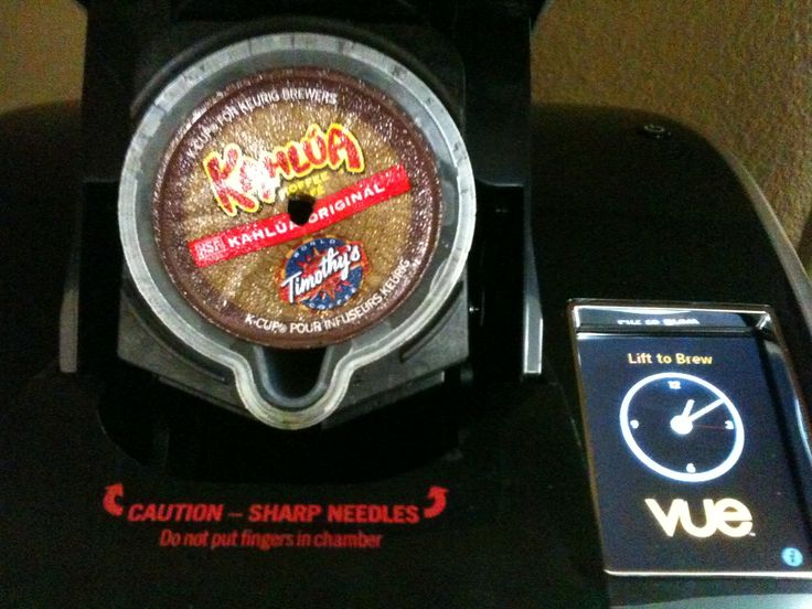 Want to use Kcups in the new Keurig vue? Read on, I did some McGuyvering! What you'll need. An empty vue cup. Your favorite flavor Kcup. Something to make a hole. I used a wooden scewer used for co...