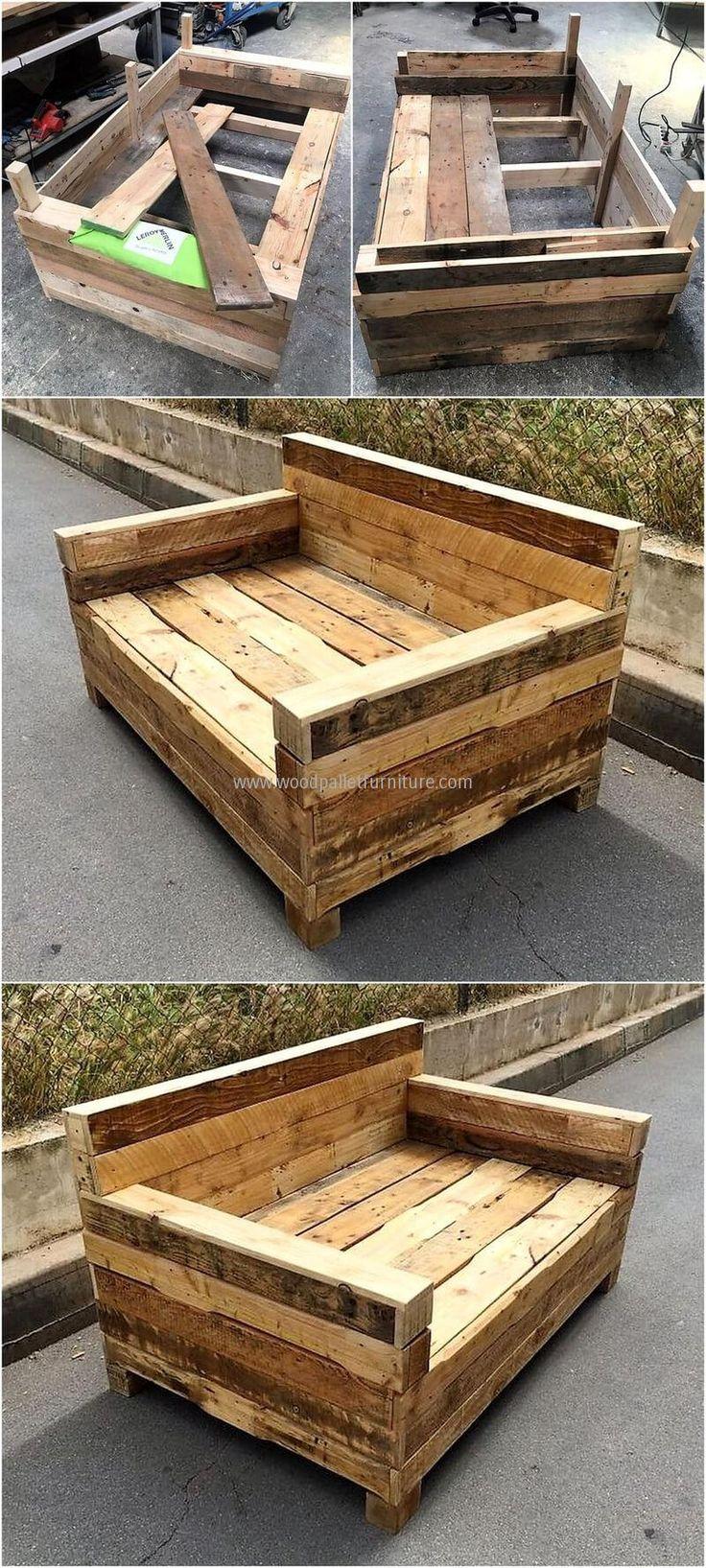 diy wooden pallet couch plan