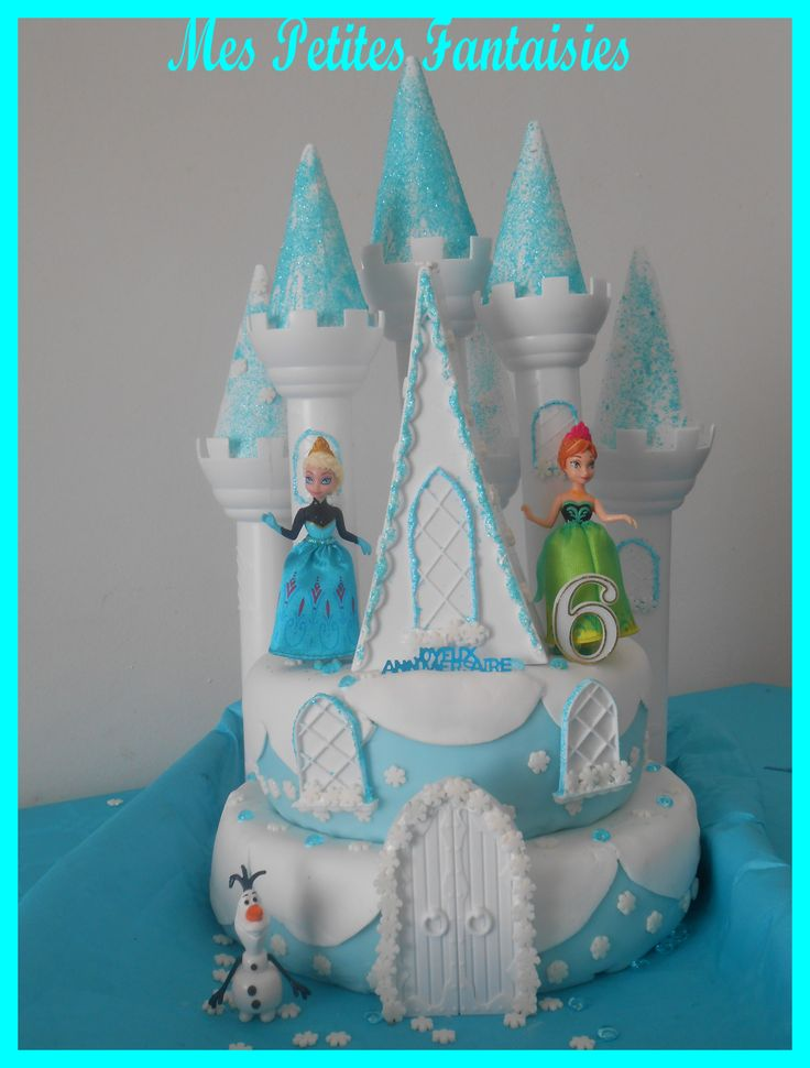 75 best images about chateau princesse on pinterest frozen birthday cake elsa doll cake and - Princesse des neige ...