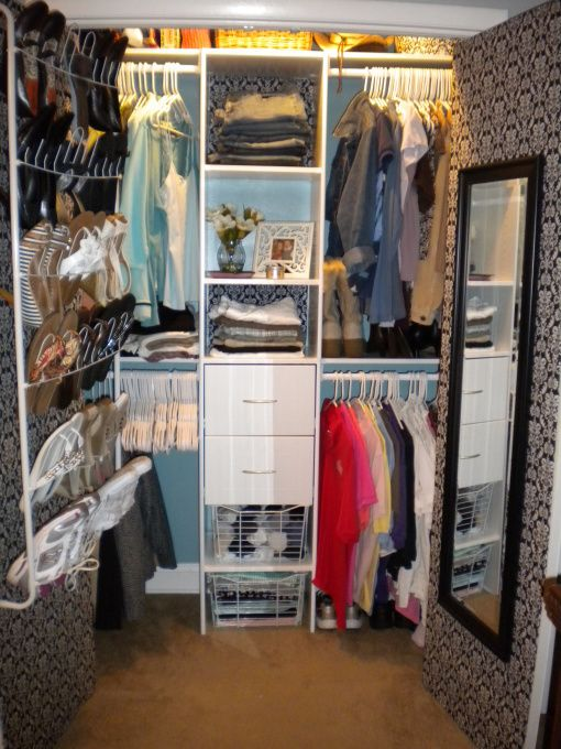 Attractive Small Closet Designs For Women | ... Small, Cramped, Ranch Style Closet
