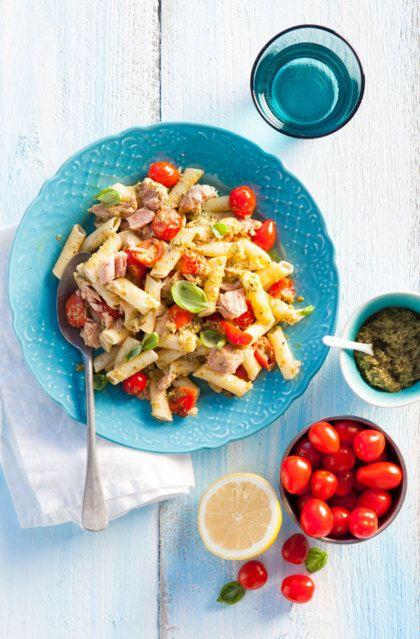 Recept voor pasta pesto met tonijn
