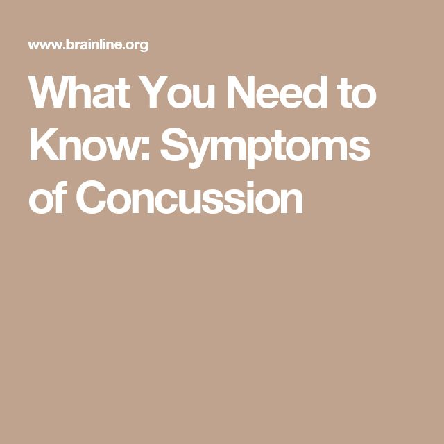 What You Need to Know: Symptoms of Concussion