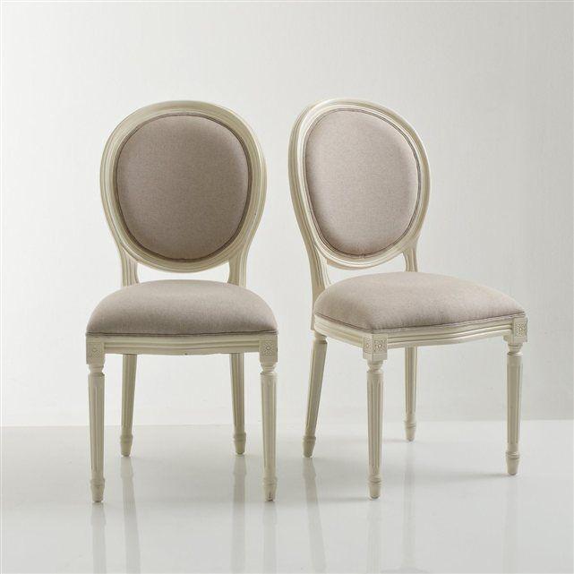 Chaise médaillon, style Louis XVI, lot de 2, Nottingham La Redoute Interieurs