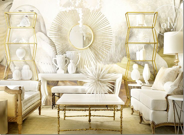 image. 141 best Interiors   white and gold images on Pinterest   Dream