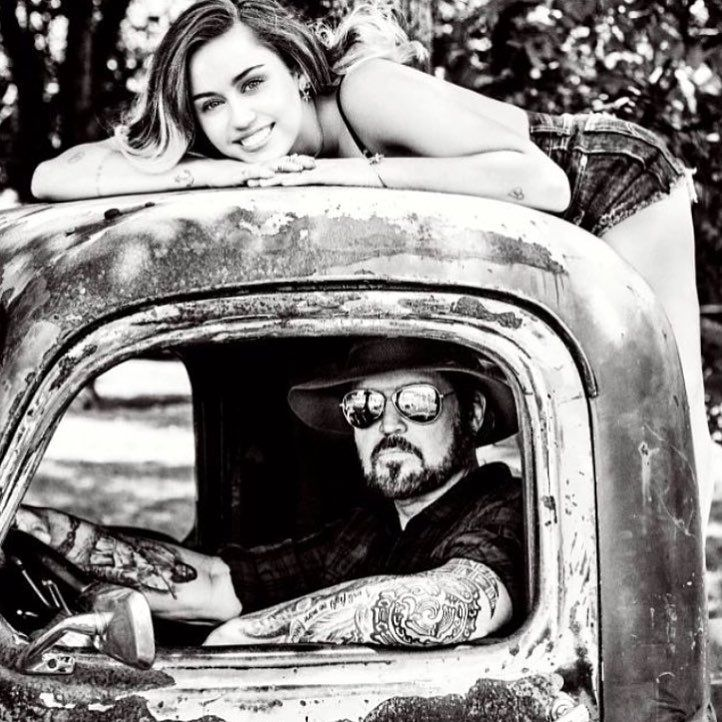 "973.1k Likes, 1,690 Comments - Miley Cyrus (@mileycyrus) on Instagram: ""Coolest dude in the world ! My dad!  @billyraycyrus !!!! I Looooove you! ❤️❤️❤️❤️ @cosmopolitan"""