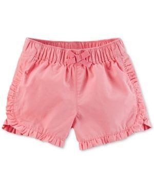 Carter's Ruffled Shorts, Little Girls (2-6X) - Pink 6X