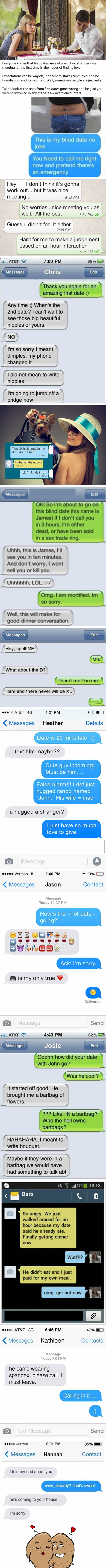 12 Incredibly Awkward Texts That Show Just How Tricky First Dates Can Be - 9GAG