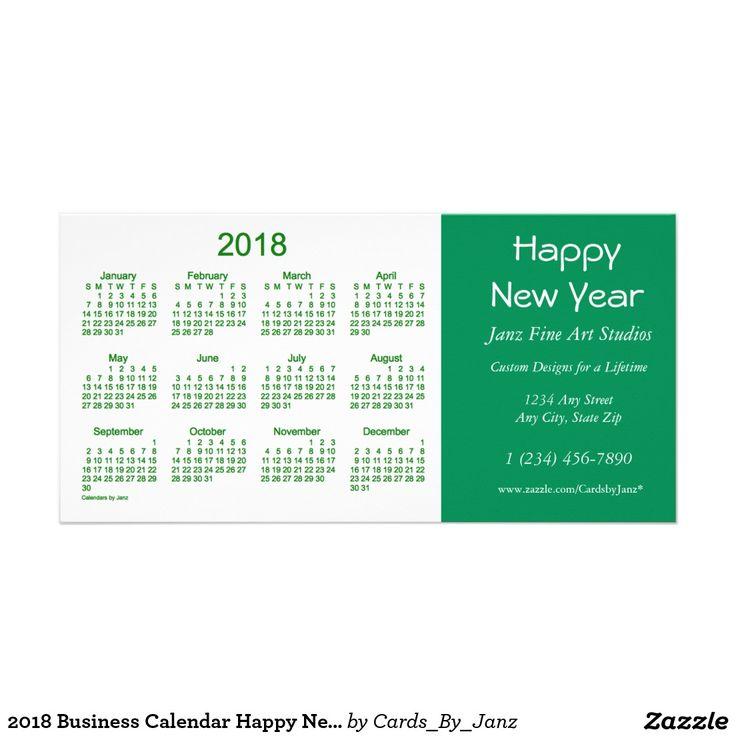 2018 Business Calendar Happy New Year Card | AV Best Deals ...