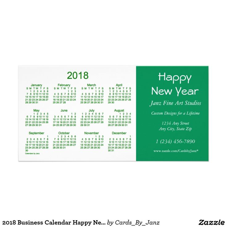 business card calendar 2018 - Black.dgfitness.co