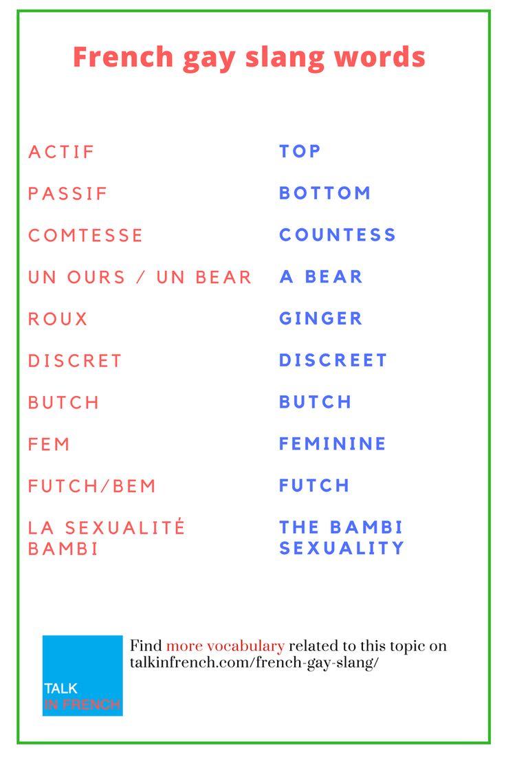 French gay slang