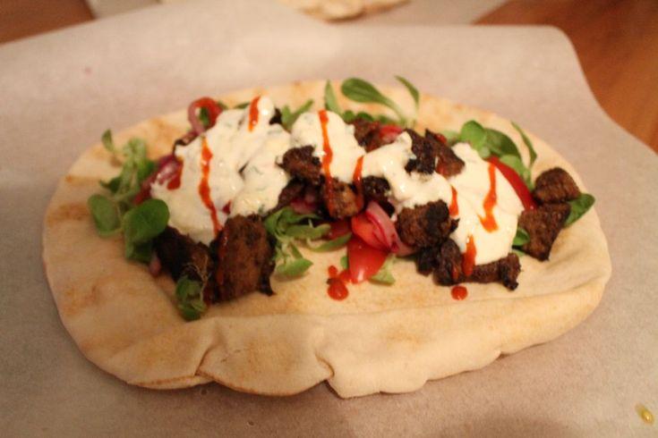 Hjemmelavet shawarma.