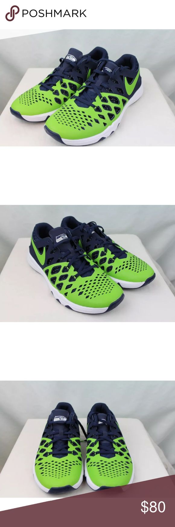 NWOT Nike Train Speed Seattle Seahawks NFL Sneaker NEW Nike Train Speed 4 AMP NFL Seattle Seahawks Green Blue Size 10 US Mens   Ultimate Seahawks fan gear!    New without box Nike Seattle Seahawks mens shoes. Blue and green Seahawks colors, size 10 in US mens. Nike Shoes Athletic Shoes