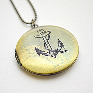 Anchors Away Locket, $23, now featured on Fab.