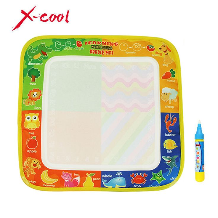 Neues Spielzeug Wasser Zeichnung Matte 29X30 CM Bord Malerei und Schriftlich Doodle Mit Magie Stift ungiftig Reißbrett für Baby kinder