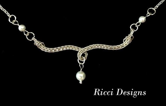 Wire Wrapped Bridal Necklace or Birthstone Necklace