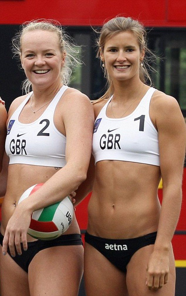 Get the look: Members of Great Britain women's Beach Volleyball team