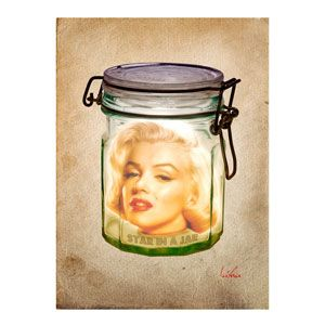Mary in a Jar 90x60 cm by Bisha Design