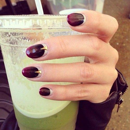 oxblood nails ideas