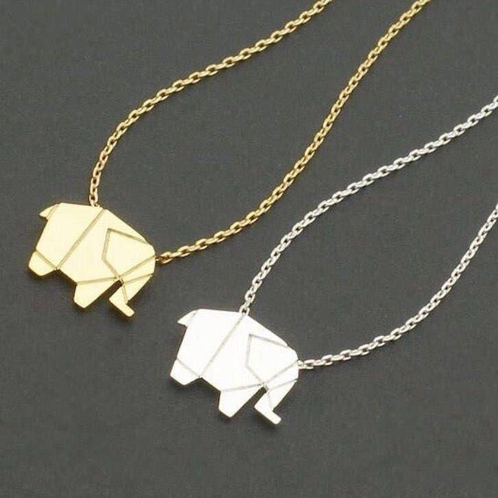 Origami Elephant Necklace, Elephant Jewelry, Dainty Necklace, Elephant Necklace, Gift Ideas, Gifts for Her, Dainty Jewelry, Origami Jewelry, by MissFitBoutiqueCA on Etsy https://www.etsy.com/ca/listing/549566858/origami-elephant-necklace-elephant