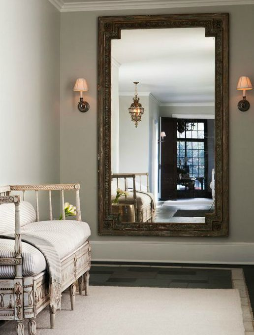 Foyer Wall Mirror, French, Entrance/foyer Design Ideas