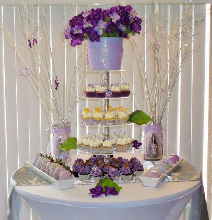 Purple Wedding Dessert Table