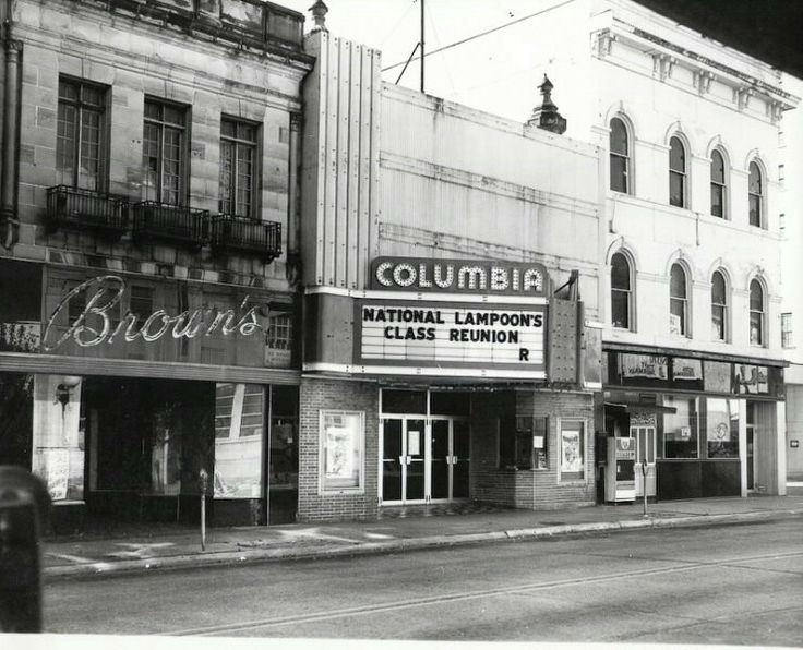 BROWN'S CLOTHING STORE & COLUMBIA THEATRE & THE ROYAL LOUNGE, GALLIA STREET ACROSS THE ESPLANADE, PORTSMOUTH, OHIO