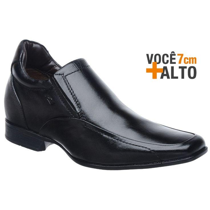 Sapato Rafarillo Linha Alth Você + Alto 7cm 3225 Couro Preto - FKV Calçados