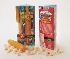 Popping popcorn right on the cob? This company sells whole cobs. Could also grow cobs (Johnny's sells non-GMO seeds at http://www.johnnyseeds.com/p-7765-robust-997-f1.aspx), and have students measure humidity levels while drying, then enjoy it popped on the cob in the microwave!