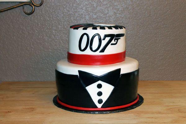 James Bond 007 Birthday Cake Bond Party James Bond Cake James