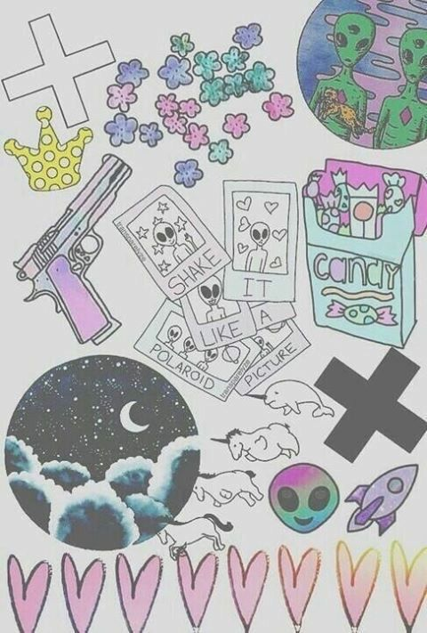 Image via We Heart It #aliens #bang #candy... - Little Place Of ...