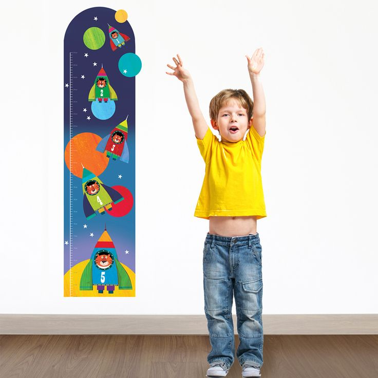 Personalised Space Height Chart  Kids Height Wall Chart Measure space themed