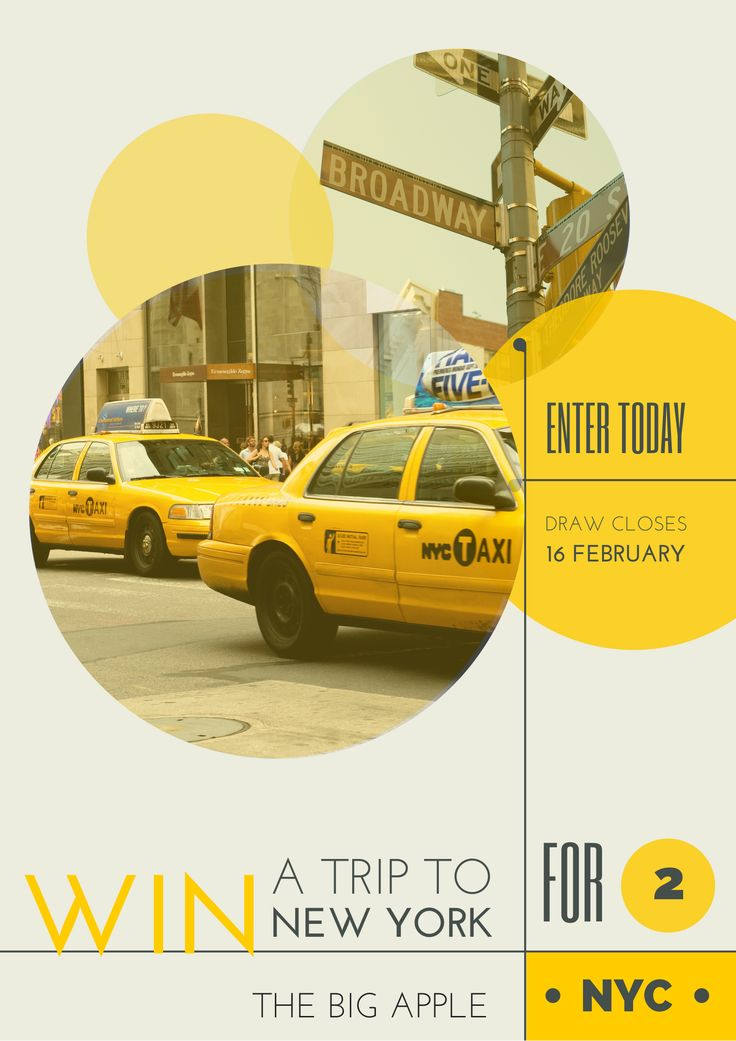 Win a Trip to New York Poster