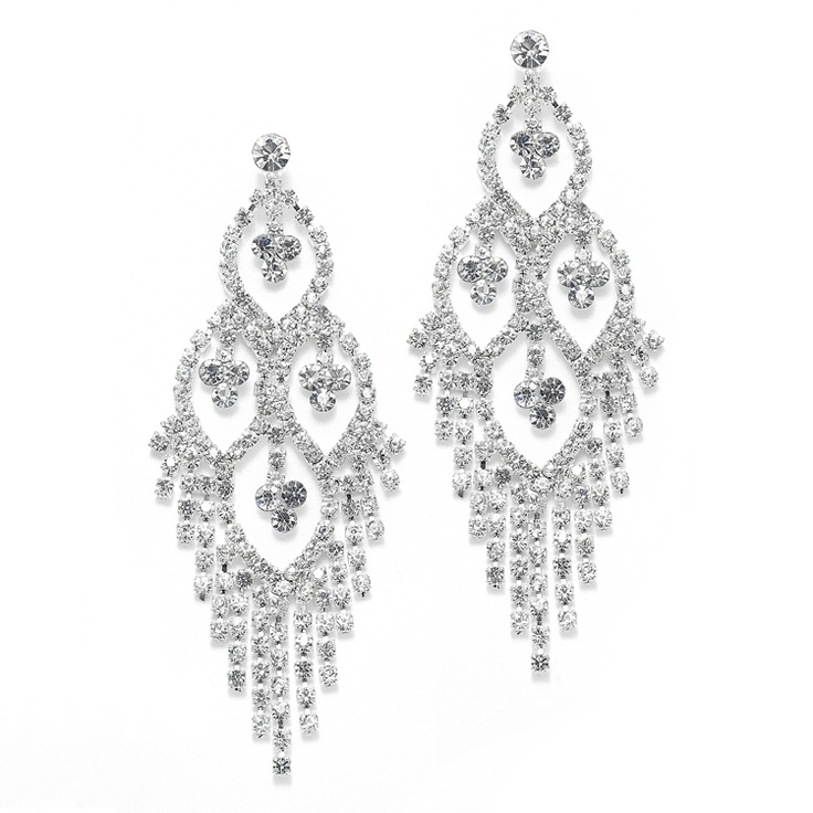 Dazzling Rhinestone Earrings for your quinceanera!
