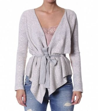 Odd Molly Egotrip Short Wrap Cardigan 179, Lite Grey Mel