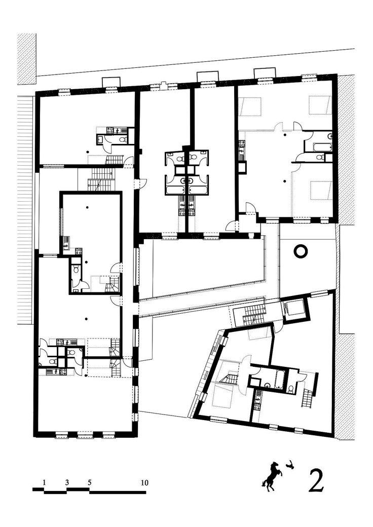 Cheval Noir Housing with Artist's Studios,plan