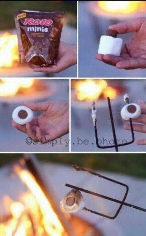 Rolo in a marshmallow . .mmmm