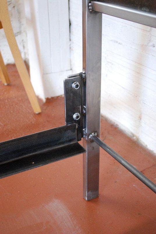Steel Panel Bed Full Size Platform Version by deliafurniture