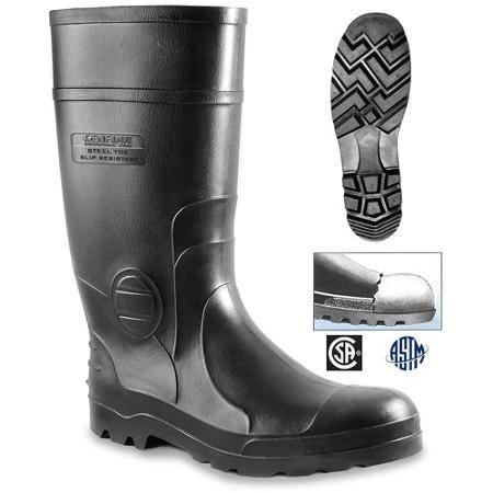 Genfoot America Inc. Men's Black Steel Toe Boots