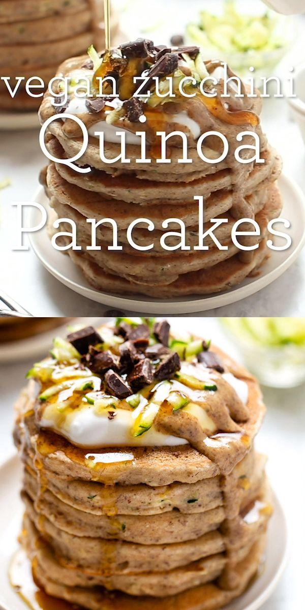 Vegan Zucchini Quinoa Pancakes