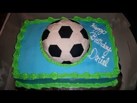 Dulce Hogar- Como Hacer Pelota de Soccer  3D Para un pastel
