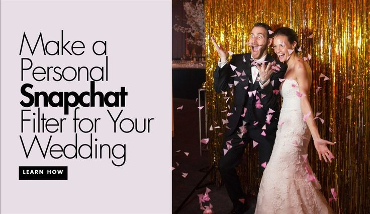 How to Have Your Own Wedding Filter on Snapchat | Photography: Joanna Toto for Ira Lippke Studios. Read More:  http://www.insideweddings.com/news/planning-design/how-to-have-a-personalized-snapchat-filter-for-your-wedding/2997/