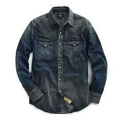 Slim Dark Denim Western Shirt - RRL Slim Fit - RalphLauren.com