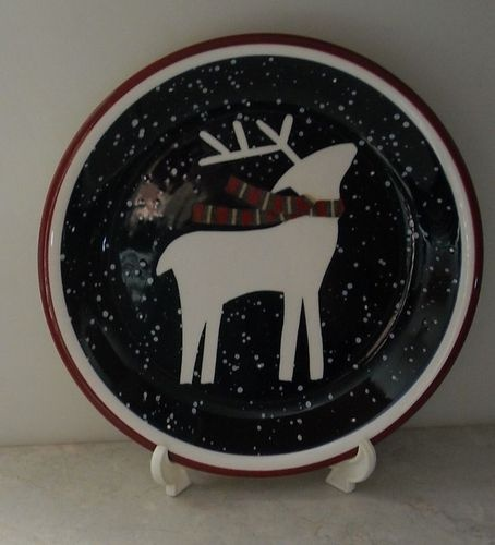 Debbie Mumm Snow Flurries Reindeer Zak Design Christmas Holiday Blue Salad Plate & 29 best My Debbie Mumm Dishes images on Pinterest | Dinnerware Dish ...