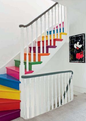 If I had kids, I'd seriously think of doing this. What a fun set of stairs down into playland!