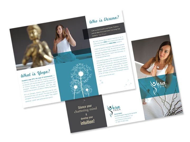 Vera yoga brochure aniush design pinterest yoga for Yoga brochure templates