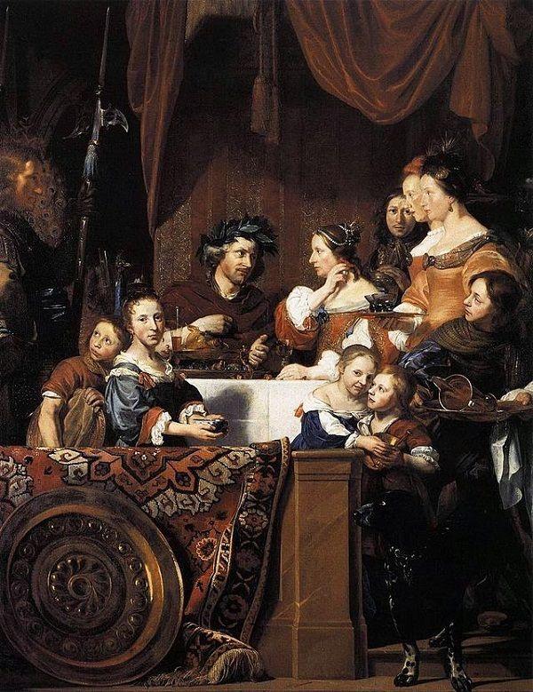 © Jan de Bray - Banchetto di Antonio e Cleopatra (1669)